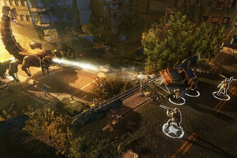 The battle with the famous Scorpitron in Wasteland 2.