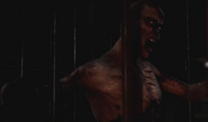 Dylan zombie in cage