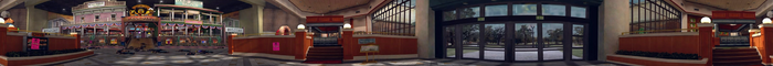 Dead rising PANORAMA food court near door COMPLETE