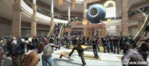 Dead rising entrance plaza with fireax