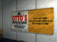Dead rising north plaza ottos construction sign