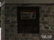 Dead rising sign on clock tower