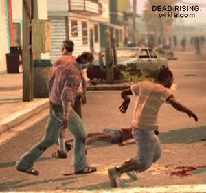 Dead rising case 0 vomit slipping on