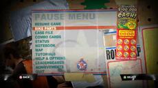 Dead rising 2 case 0 pause menu bike parts