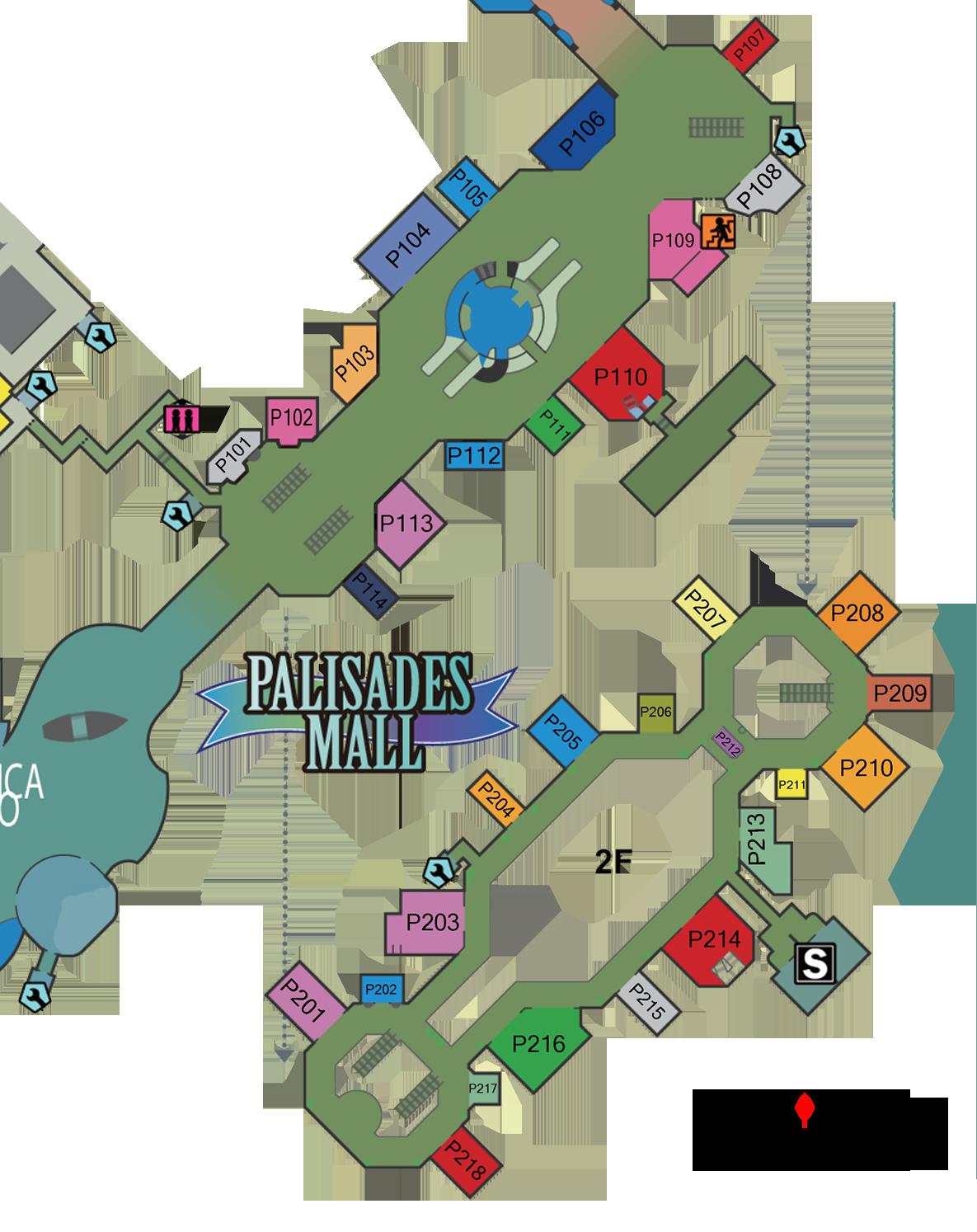 Palisades Center Mall Map