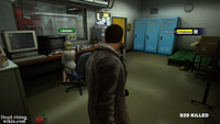 Dead rising food in security room