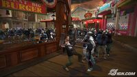 Dead rising IGN chair wooden food court