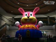 Dead rising wonderland plaza rabbit balloon at dusk north