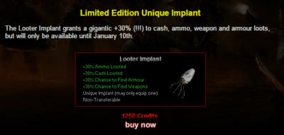 Limitededition looterimplant