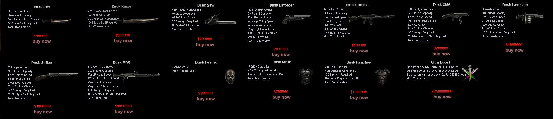 Dusk Shops | Dead Frontier Wiki | FANDOM powered by Wikia