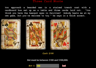 """Three Card Monte"""
