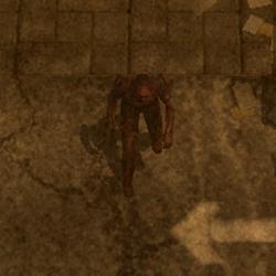 Burned Male Zombie