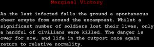 """Marginal Victory"""