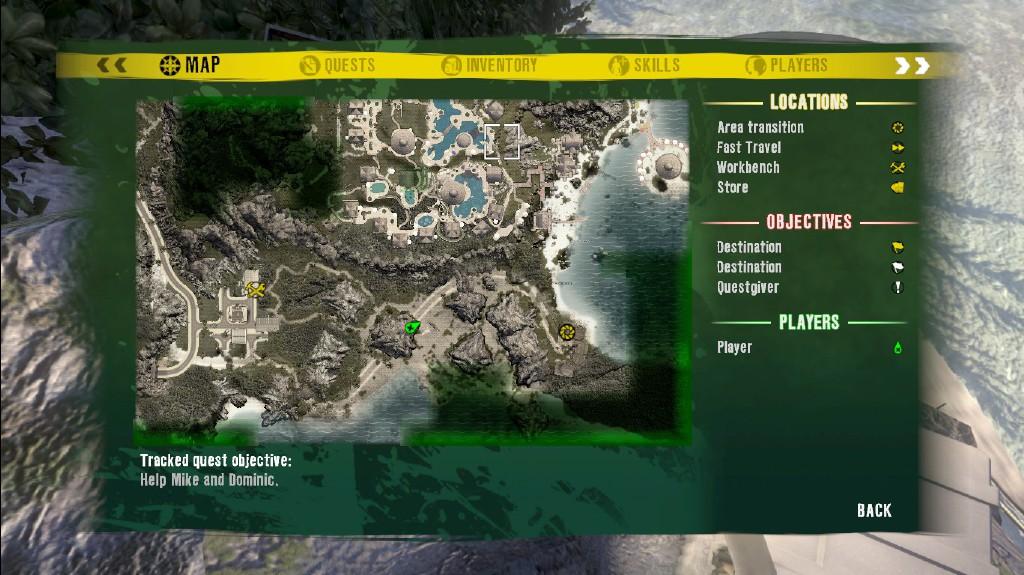 Dead Island Green Skull Locations Map