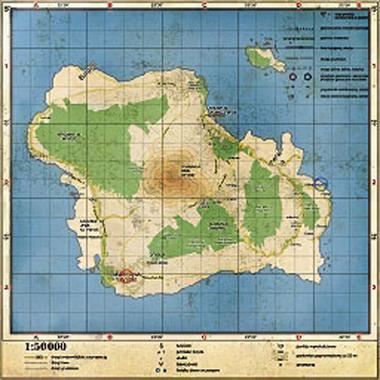 Карта Острова Баной