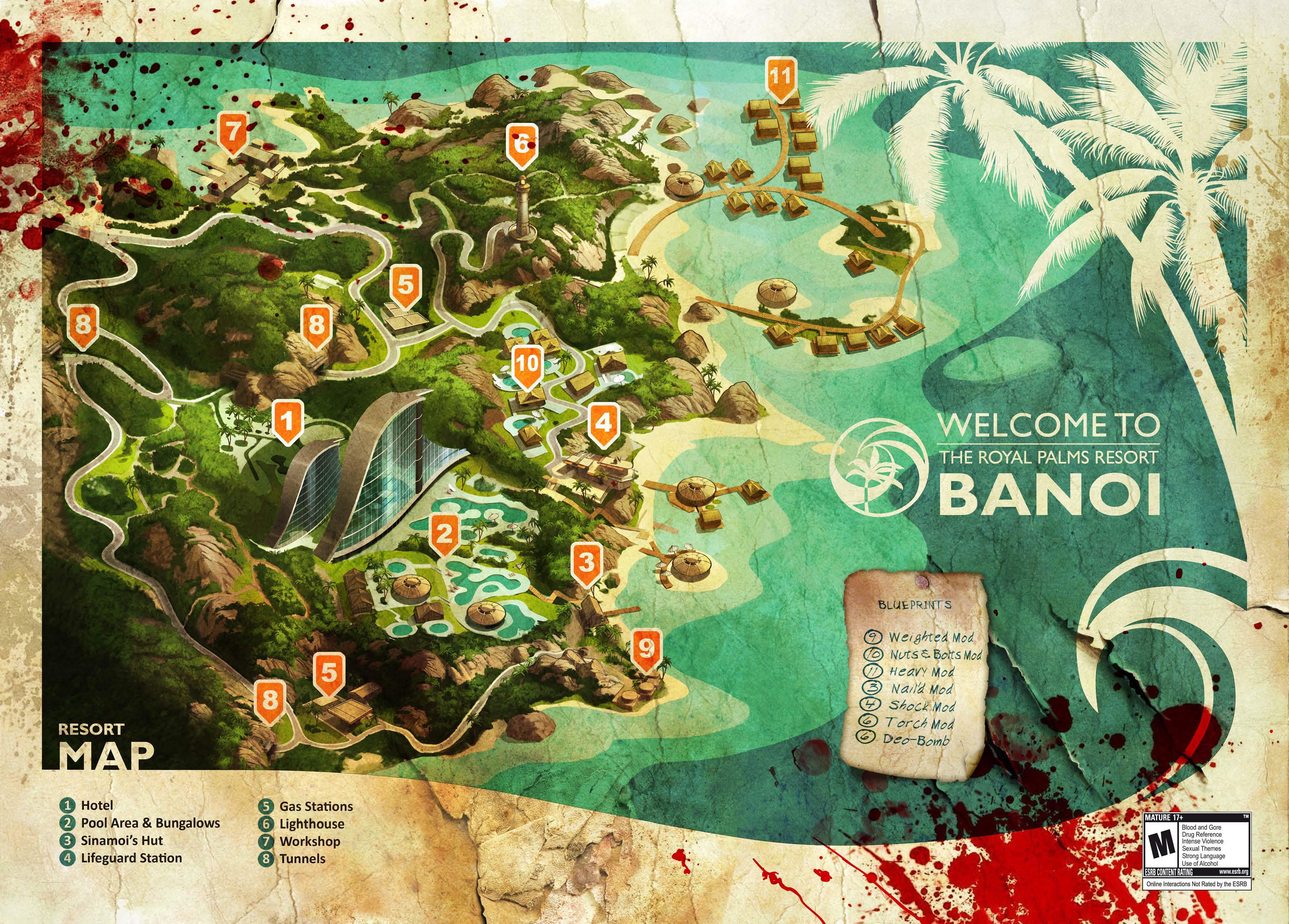Dead Island Map Banoi Island Dead