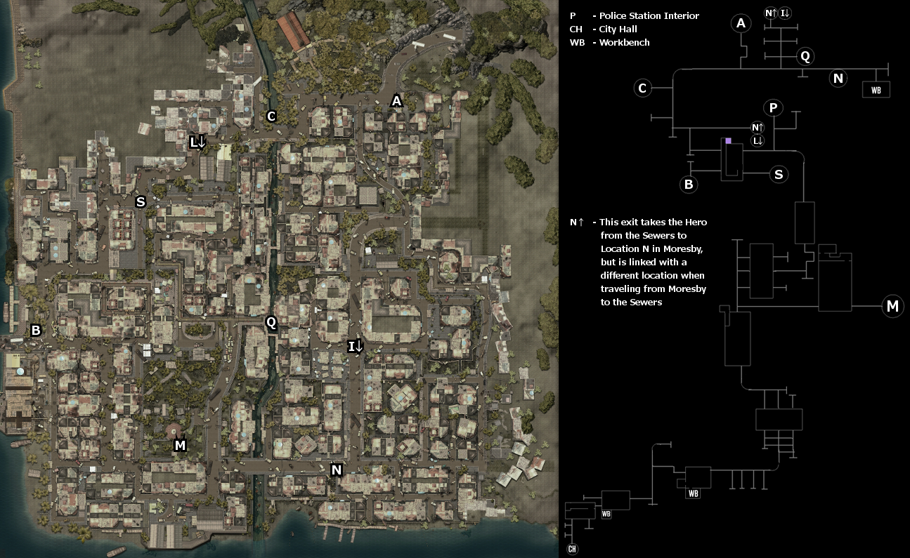 Dead Island Definitive Edition Sewers Map