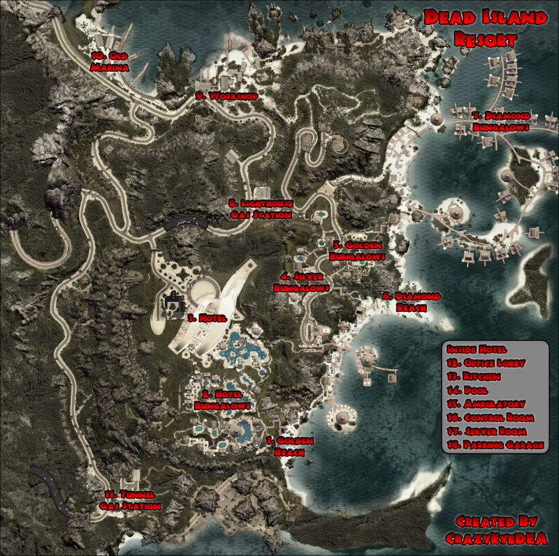 Dead Island Bungalow Locations