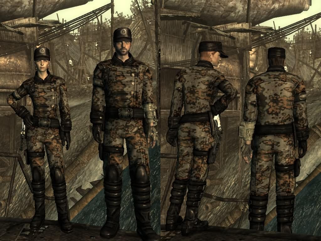 Fallout 3 Mod Enclave Officer Panzer Camo 1
