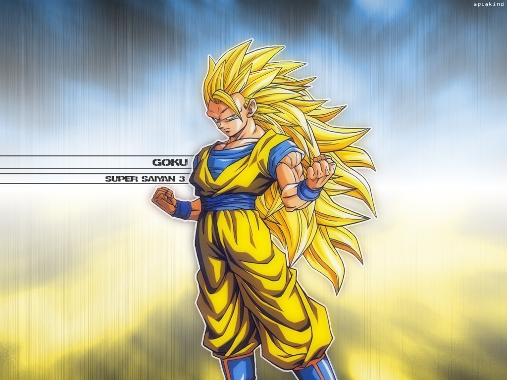 Goku Super Saiyan 3 Wallpaper Dragonball Z Movie Characters 16255467 1024 768