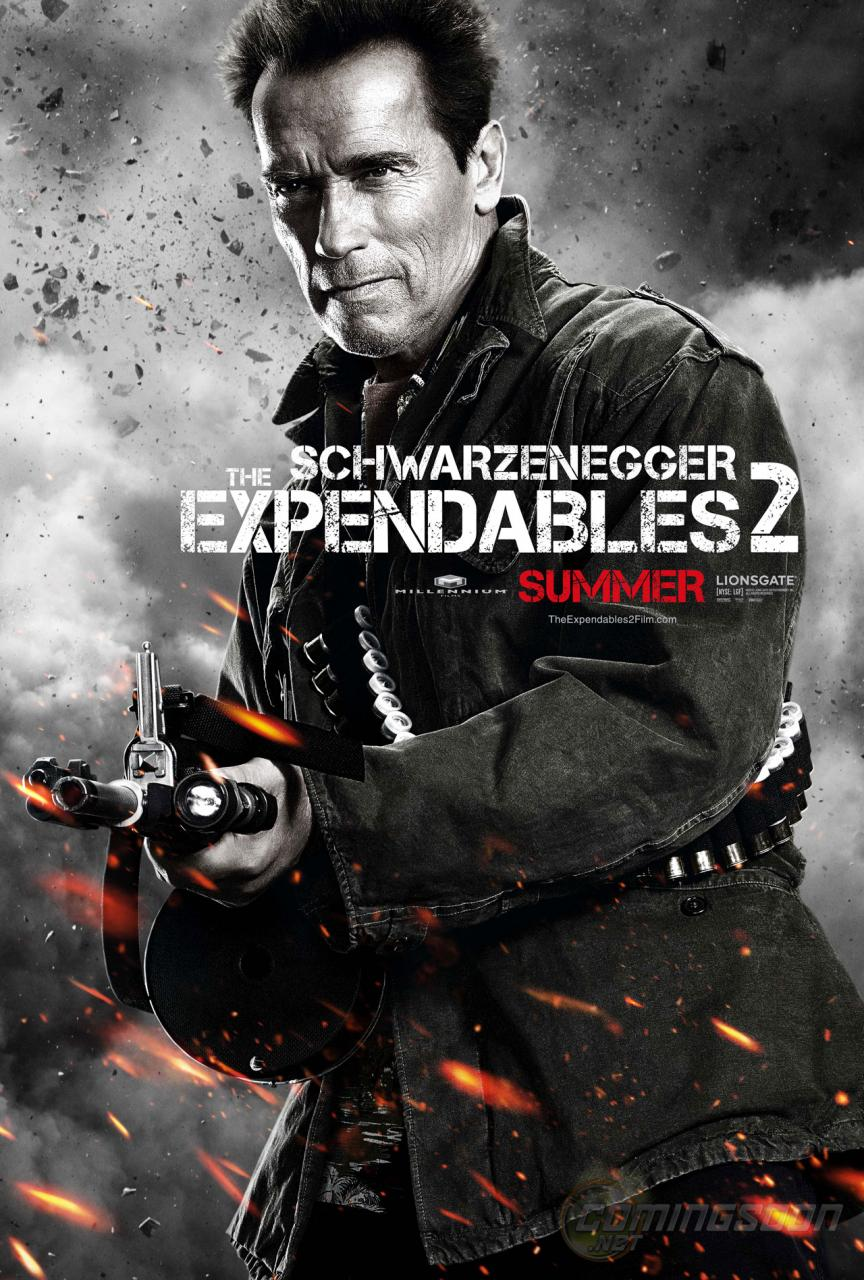 Expendables 2 Movie Poster Arnold Schwarzenegger