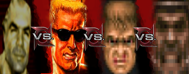 Bitterman vs Doomguy vs Duke Nukem vs The Ranger