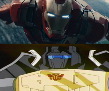 Grimlock G1 vs MCU Iron Man