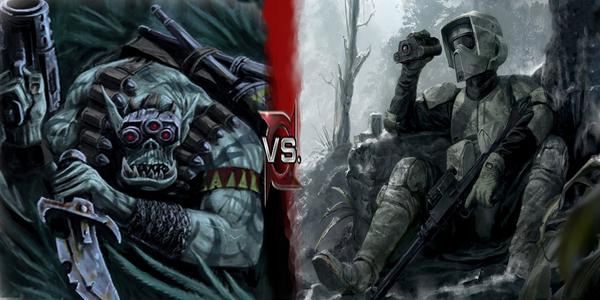 Ork Kommandoz vs Scout Troopers