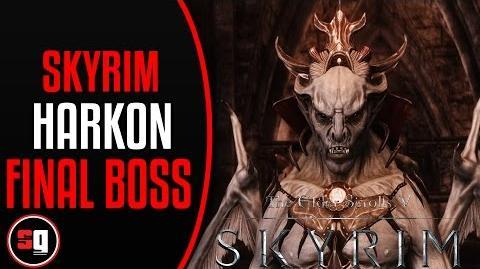 Elder Scrolls V Skyrim Dawnguard - Defeating Lord Harkon Final Boss Fight