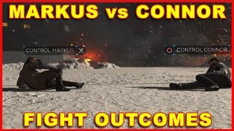 Detroit Become Human Markus vs Connor Fight Outcomes