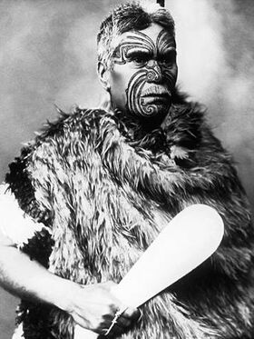 Maori warrior with club