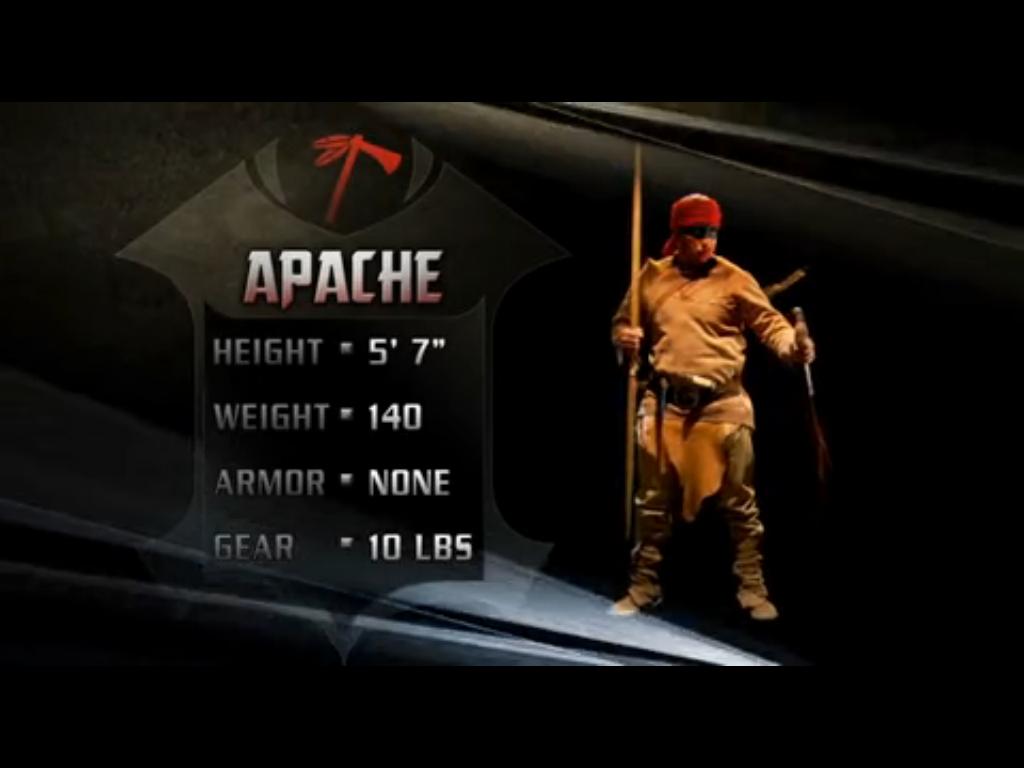 Apache Deadliest Warrior Wiki Fandom Powered By Wikia