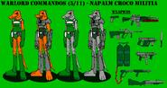 Warlord Commandos 5-11 - Napalm Croco Militia
