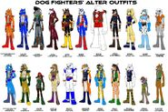 Dog Fighters Alter Outfits