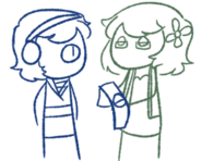 Stick nan and yuuka