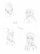 Breaktime doodles - 5B - DM - Marianela, Isaac, Driftwood, Jezebel - 8-22-2016