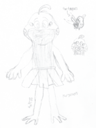 DM - gay alien frog baby sketch - 12-30-2015