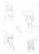Breaktime doodles - 5A - DM - Grey, Ryker, Hitomi, Heather - 8-22-2016