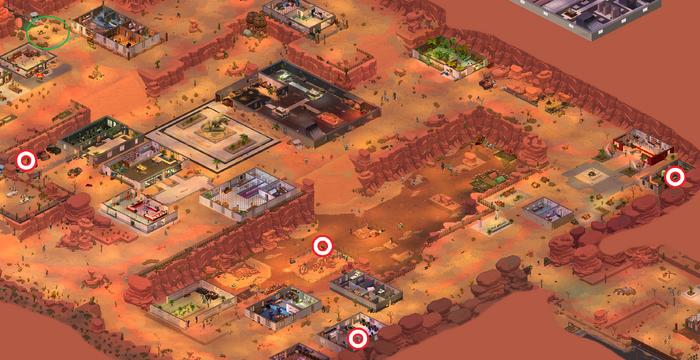 Arizona Jurassic Museum - incomplete battery locations map