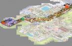 Sunset Mall map-path to freezer