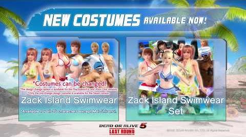 Dead or Alive 5 Last Round - Zack Island Swimwear Set