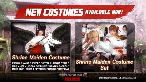 Dead or Alive 5 Last Round - Shrine Maiden Costume Set