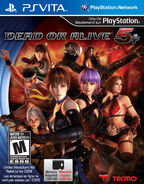 Dead or alive 5 playstation vita US cover