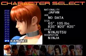 DOA1 character select