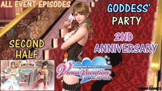 DOAXVV All event episodes of Goddess' party 2nd anniversary event (second half)