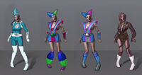 Dead rising 2 Off the Record concept art from main menu art page zombies uranus zone women (1)