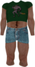 Dead rising Green Ratman T-shirt and Blue Jean Shorts