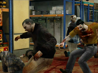 Dead rising zombies falling on oil bucket (2)
