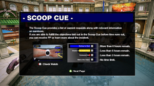 Dead rising scoop cue info