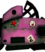 Dead rising Giant Pink Chainsaw decals